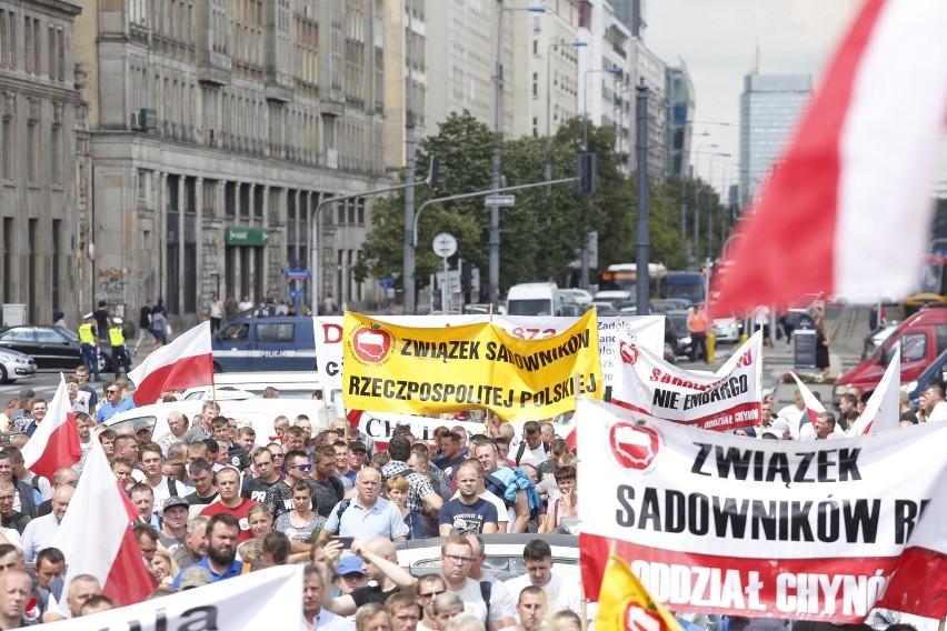 Protest rolników w Warszawie 13.07.2018