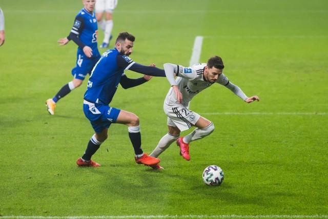 Filip Mladenović w meczu Legia - Lech