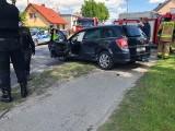 Zderzenie dwóch samochodów osobowych w Sadkach niedaleko Nakła. Są ranni