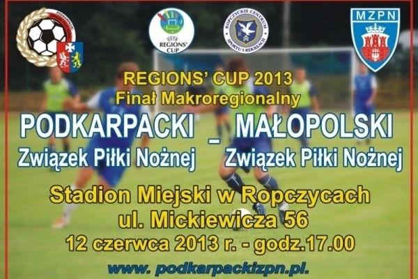 Plakat promujący mecz.