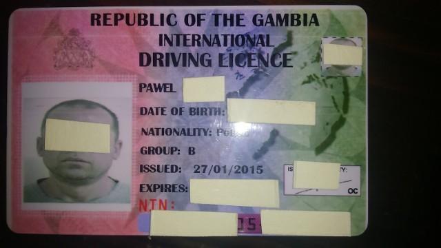 Gambijskie prawo jazdy jest oferowane polskim kierowcom