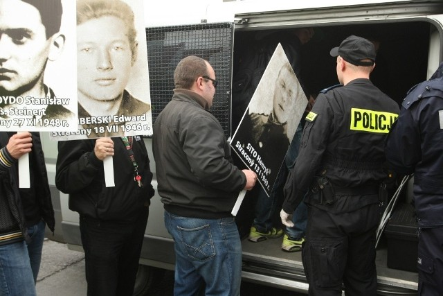 Wrocław, protest przed wykładem prof. Baumana we Wrocławiu