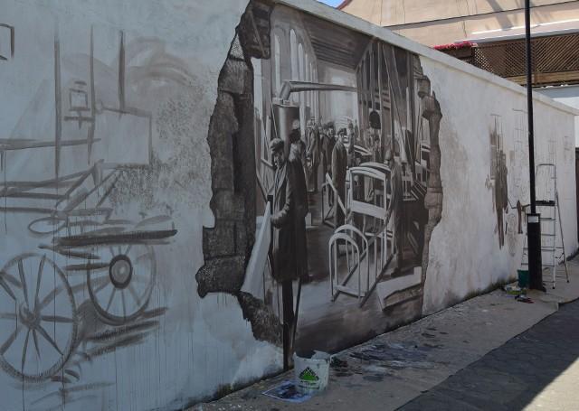 W Szydłowcu niebawem będzie można podziwiać gotowy mural, który ma przedstawiać Fabrykę Braci Węgrzeckich.