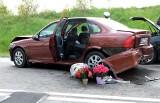 Wypadek koło Jeziorek! 20.05.2021 r. Na dk 22 między Chojnicami a Czerskiem zderzyły się 3 samochody osobowe. 1 osoba ranna