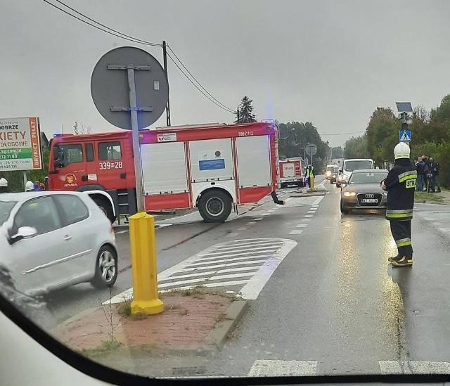 Groźny wypadek w Jedlni.
