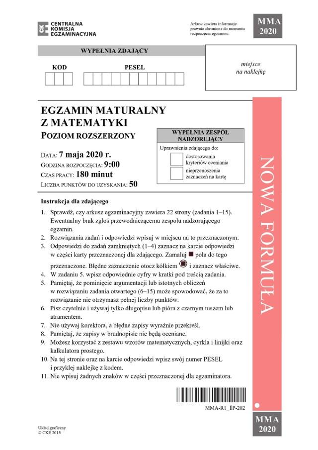 Łukasz, który zdaje maturę w Technikum Energetycznym w Krakowie, uważa, że egzamin z matematyki rozszerzonej był stosunkowo trudny, zbliżony do próbnych matury, które organizuje wydawnictwo Operon. Jakie ma rady dla przyszłorocznych maturzystów? - Nie denerwować się, podejść do egzaminu na luzie. Jak się przerobi wcześniej zadanka z matury rozszerzonej z poprzednich lat, to nie jest nic strasznego – przekonuje Łukasz, który sam od roku rozwiązywał takie zadania.