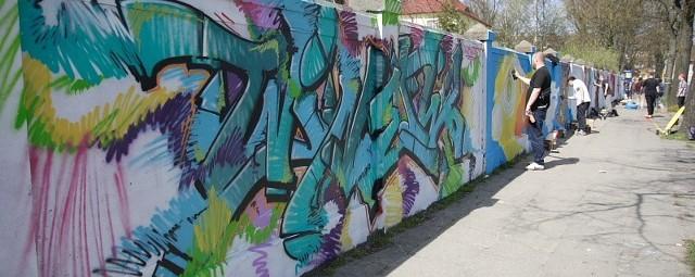 """Graffiti Jam Słupsk 2013 """"WITKACYM W ŚCIANĘ""""."""