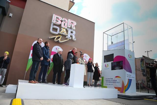 Zegar odliczający czas do The World Games stanął przy ul. Świdnickiej 11 kwietnia - na 100 dni przed rozpoczęciem igrzysk