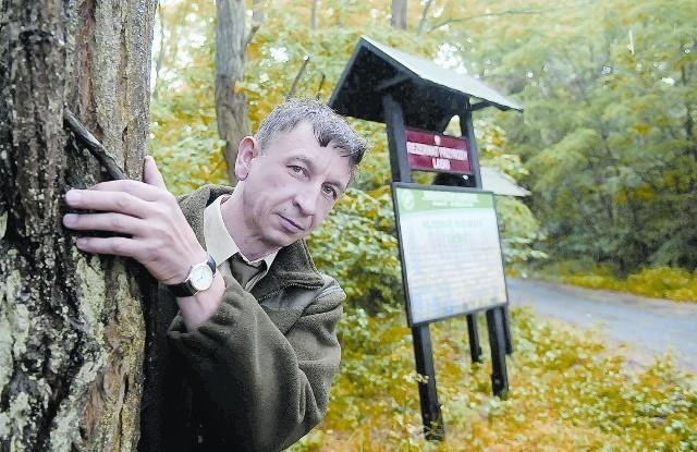 Do rezerwatu zaprasza leśnik Ryszard Bożek