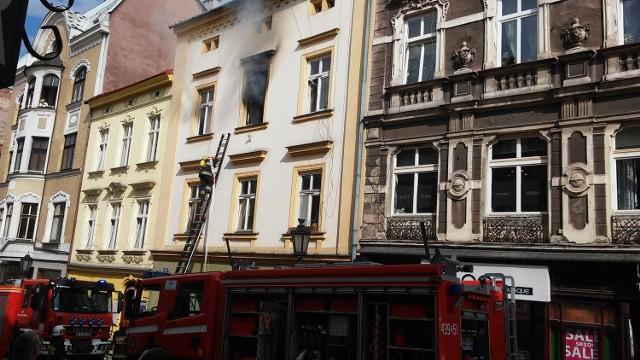 Pożar kamienicy w Cieszynie
