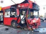 Autobus wypełniony pasażerami wjechał w słup. Wyrok usłyszała kierowca