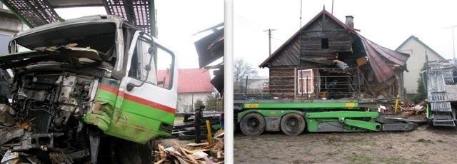 Oprócz starego drewnianego domu uszkodzeniu uległ również nowo budowany dom murowany