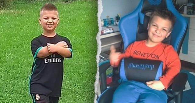 Ksawery Pudelski to radosny chłopiec. 14-latek zbiera jednak pieniądze na kosztowne operacje.