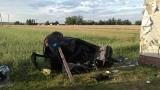 Wypadek pod Łęczycą. Samochód uderzył w dom. Zginął kierowca