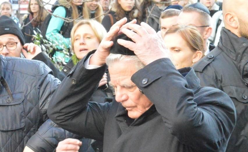 Wizyta prezydenta Niemiec Joachima Gaucka w 78. rocznicę nocy kryształowej w Cottbus