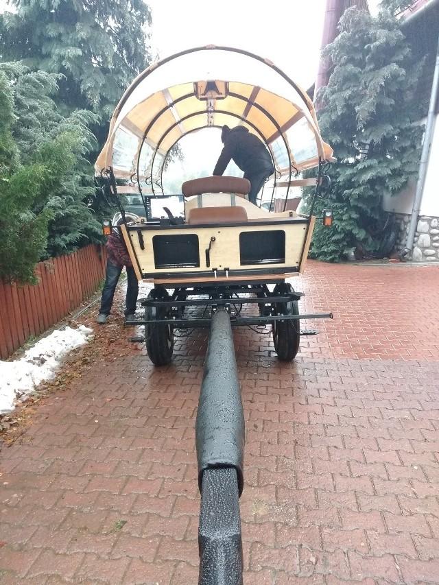 Tak wygląda wóz hybrydowy, który będzie kursował niebawem na szlaku do Morskiego Oka