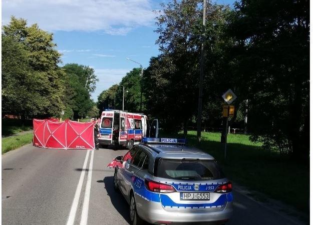 Śmiertelny wypadek na ul. Sikorskiego w Namysłowie.