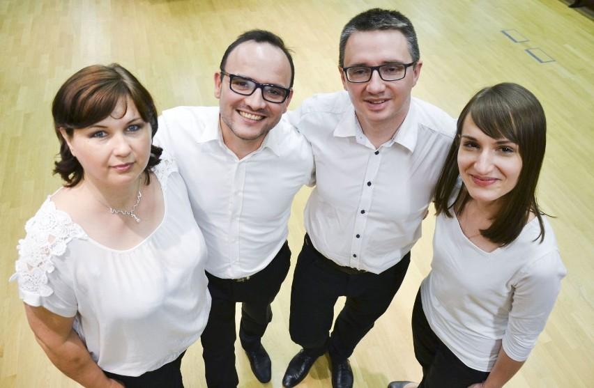Zespół Ensemble QuattroVoce. Od lewej: Marta Wróblewska,...