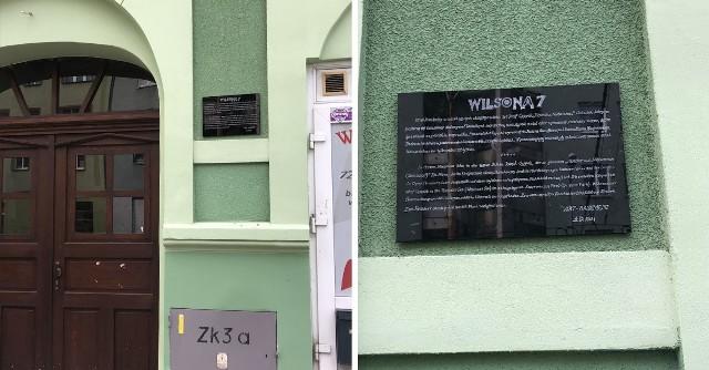 """Tablica wspominająca """"Rzeźnika z Niebuszewa"""" w Szczecinie"""