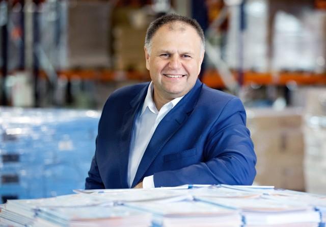 Adam Cyrański, właściciel wydawnictwa MAC Edukacja z Kielc.