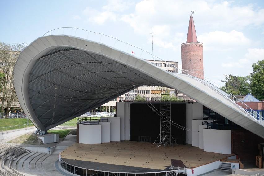 Amfiteatr w Opolu. Jesienią ma w nim się odbyć 54. Krajowy Festiwal Piosenki Polskiej.