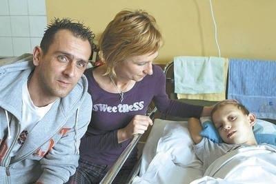 Mateusz z rodzicami Fot. Anna Kaczmarz