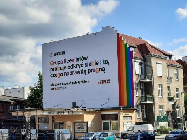 We Wrzeszczu pojawił się mural Netflixa wspierający mniejszości seksualne