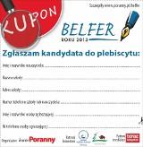 """Kupon zgłoszeniowy do plebiscytu """"Belfer Roku 2013"""""""
