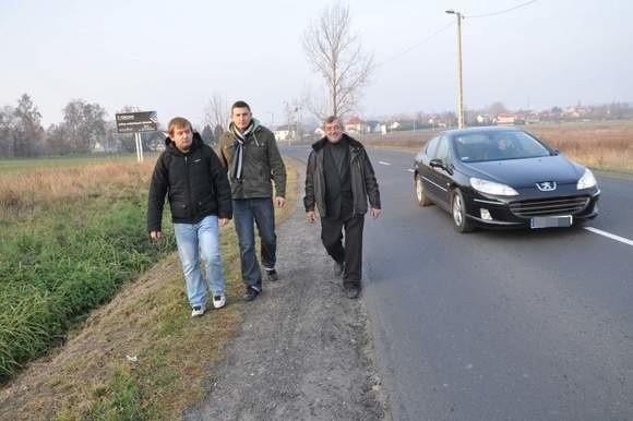 Na zdjęciu Paweł Waleska, Jan Damboń i Józef Pampuch.