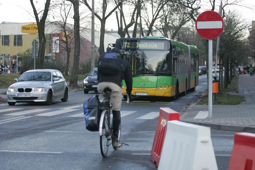 Policjanci łapią kierowców, którzy nie chcą stać w korkach i korzystają z buspasów