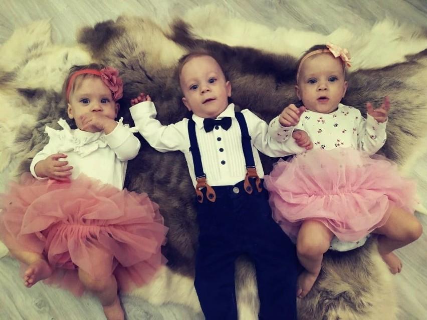 Blanka, Gaja i Bruno - dzieci, które urodziły się aż cztery...