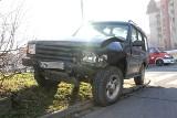 Wypadek przy Tesco. Ford wjechał w terenówkę [ZDJĘCIA]