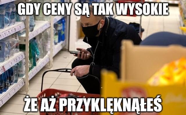 Andrzej Duda wybrał się na zakupy, co nie uszło uwadze internautów. Zobacz memy na kolejnych slajdach galerii