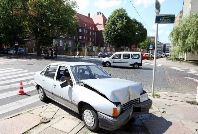 Wypadek motocyklisty na ul. Felczaka