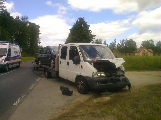 Do tego wypadku doszło 27 czerwca po godzinie 10 nieopodal miejscowości Budry (pow. węgorzewski). Autolaweta zderzyła się ze śmierciarką.