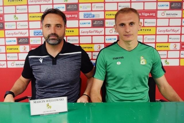 Trener GKS Bełchatów Marcin Węglewski