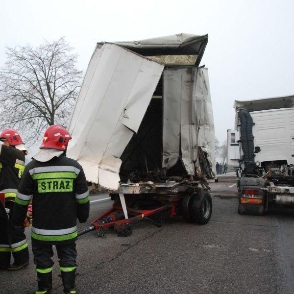 Na szczęście ciężarówki były puste