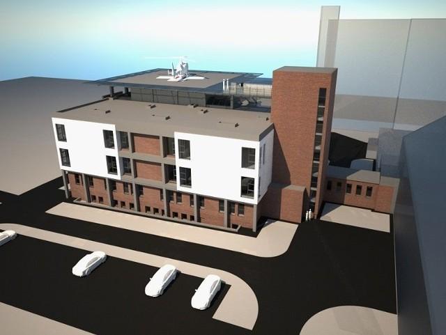 Można już rozbudować szpital w SzczecinkuWizualizacja nowego skrzydła szpitala w Szczecinku.