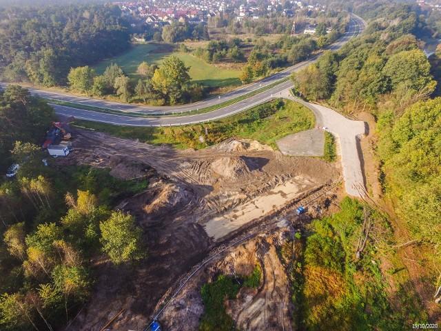 Tak wygląda zaawansowanie robót przy budowie obwodnicy Kędzierzyna-Koźla.