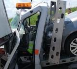 Karambol na A4. Zderzyły się 3 ciężarówki i laweta (ZDJĘCIA)