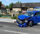 Wypadek w Nowojowicach niedaleko Strzelina. Jeden z kierowców uciekł