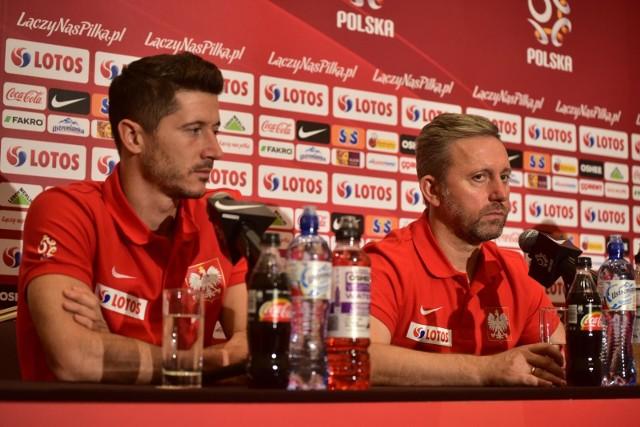 Robert Lewandowski i Jerzy Brzęczek