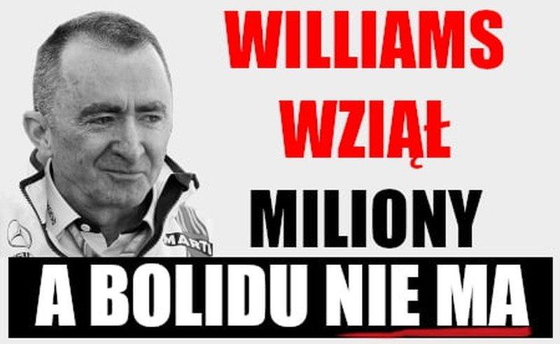 Memy Z Robertem Kubicą Bolid Williamsa Fw 42 Nie Jest Gotowy Memy