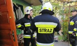 Brańsk. Strażacy ratowali mężczyznę uwięzionego w domu (zdjęcia)