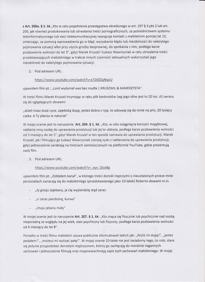 Policja potwierdza: sprawdzimy co publikuje Lord Kruszwil. Seksualna deprawacja na kanale szczecińskiego youtubera?