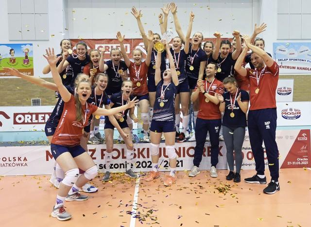 Tak siatkarki Enei Energetyka Poznań cieszyły się z pierwszego w historii poznańskiego klubu złotego medalu mistrzostw Polski