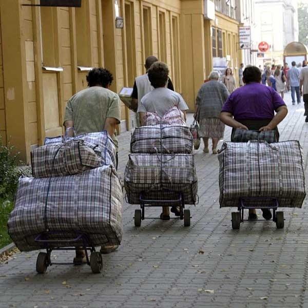 Obywatele Ukrainy zarabiają najczęściej na przygranicznych targowiska.