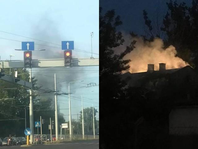 Trwa ustalanie przyczyn dwóch pożarów, do których doszło w niedzielę wieczorem w Lublinie