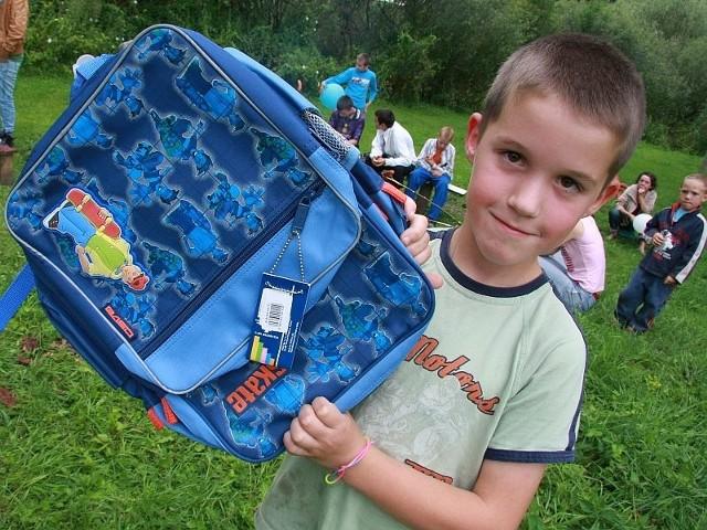 - Plecak jest super - mówił Maciek Kaczmarek.