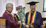 Profesor Piotr Buła, prorektor Uniwersytetu Ekonomicznego w Krakowie, z doktoratem honoris causa Akademii Studiów Ekonomicznych Mołdawii